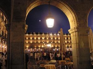 Interior de la Plaza Mayor de Salamanca
